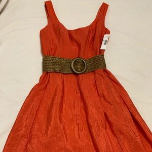 New Direction sleeveless dress with belt